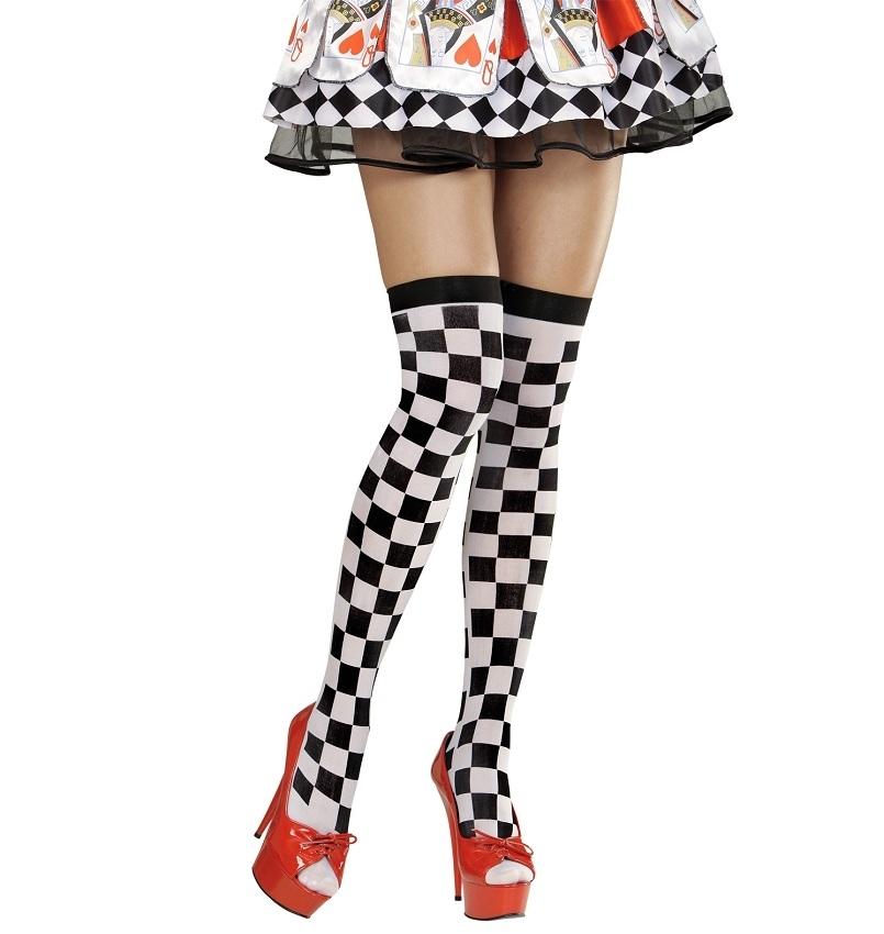 Αποκριάτικες Κάλτσες Καρό Λευκό Μαύρο  898899893f7
