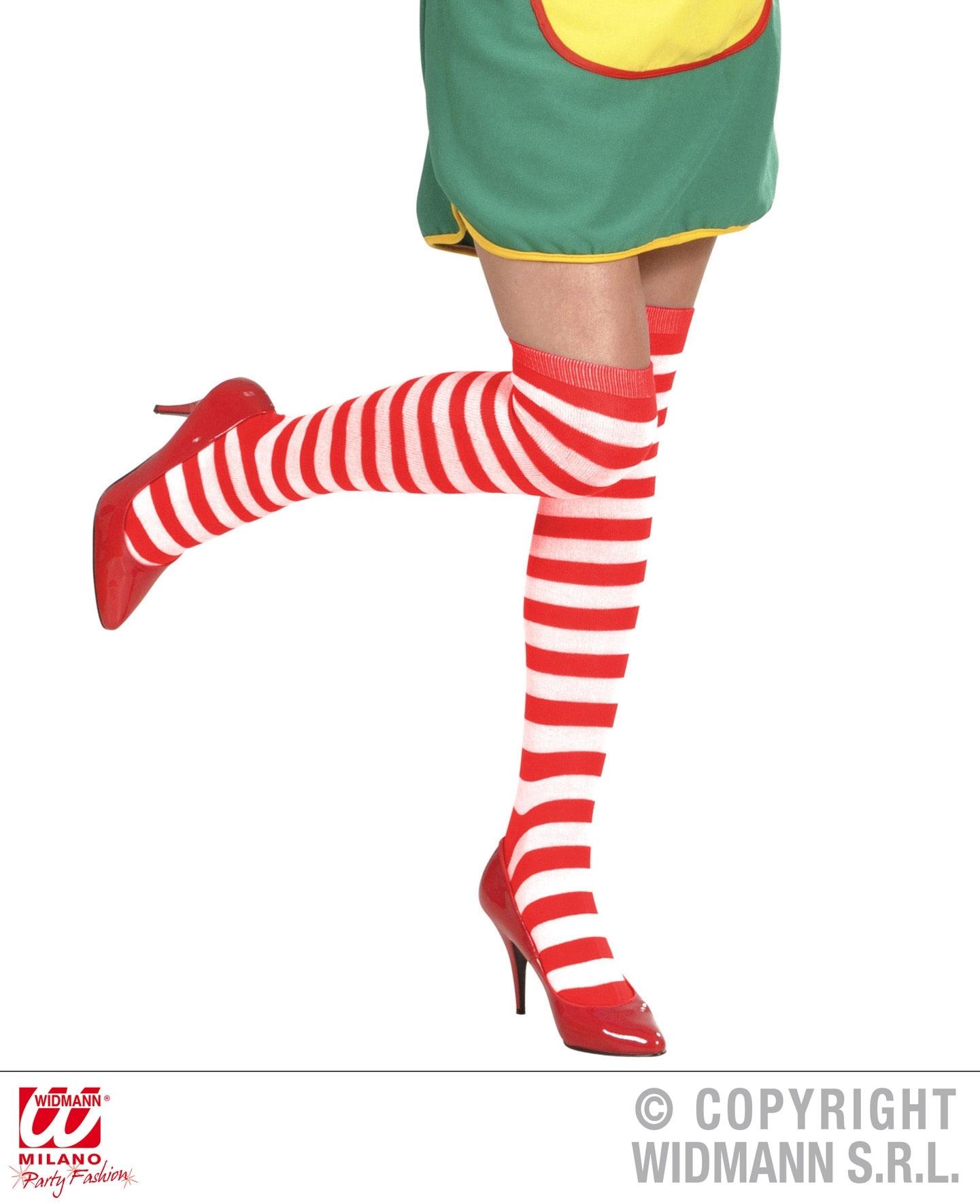 Αποκριάτικες Κάλτσες Ριγέ Κόκκινο Λευκό 64εκ  423a3266ae4