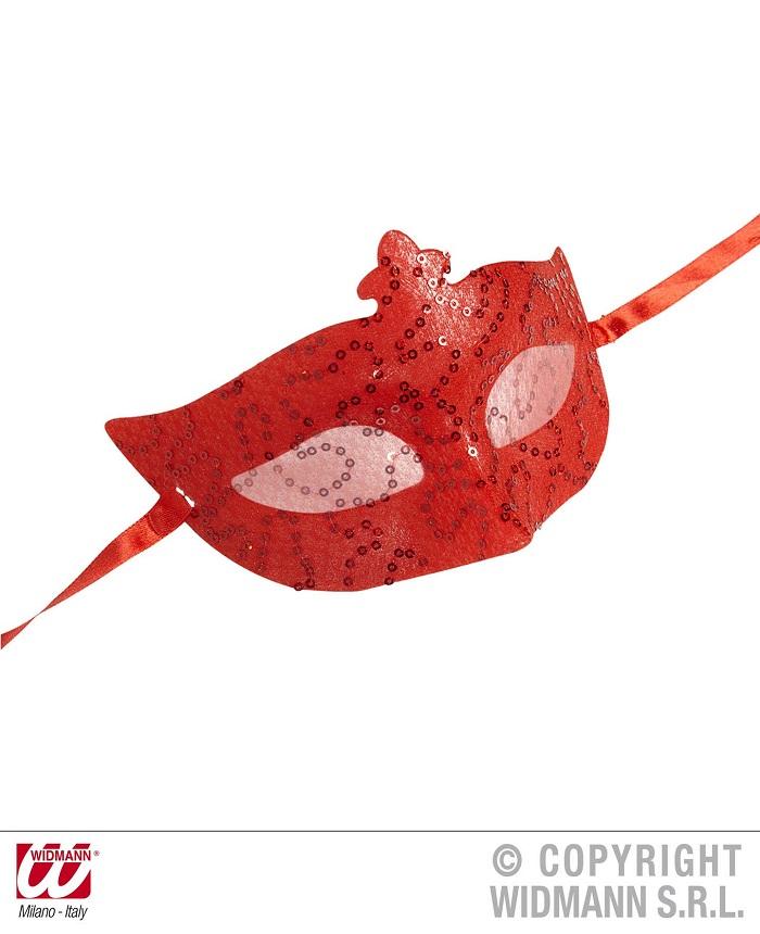 7d991eac66e Αποκριάτικη Μάσκα Ματιών Κόκκινη Δαντέλα